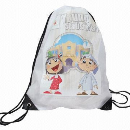 Foldable shopping bags in drawstring style