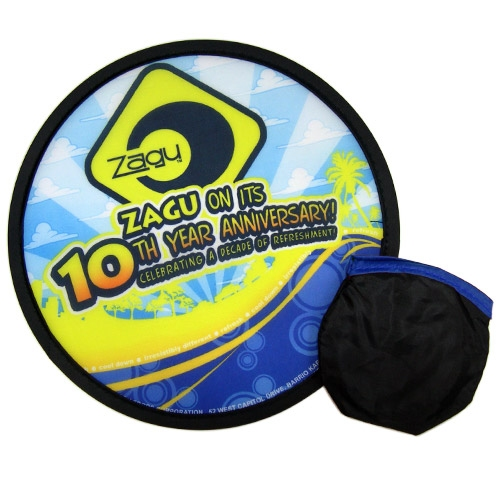 Foldable Frisbees with color printed logo