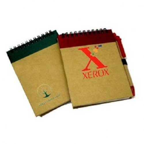 Green Recycled Notebook